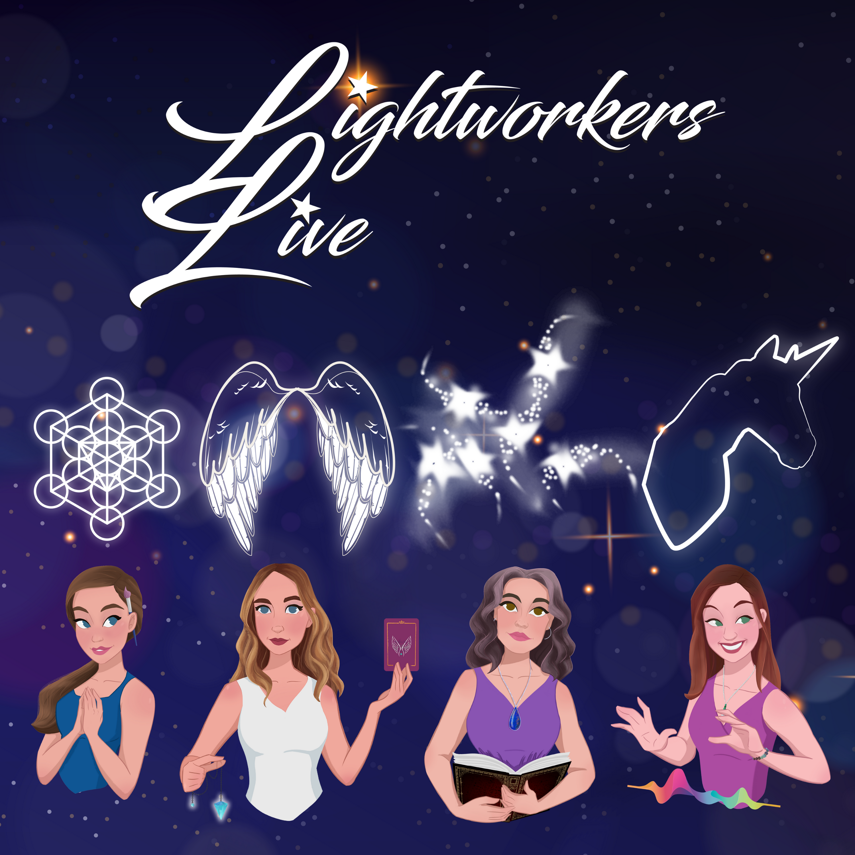 Lightworkers Live show art