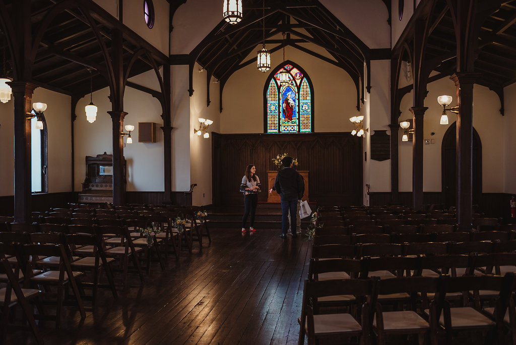 Mollyann at All Saints Chapel (image by f8 studios)