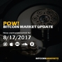 """Artwork for PoW Bitcoin: """"Bitcoin In Space"""" - 8/17/2017"""