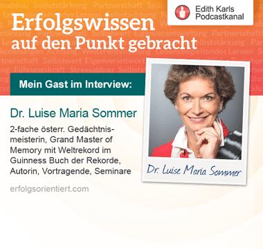 153 - Im Gespräch mit Dr. Luise Maria Sommer - Teil 2