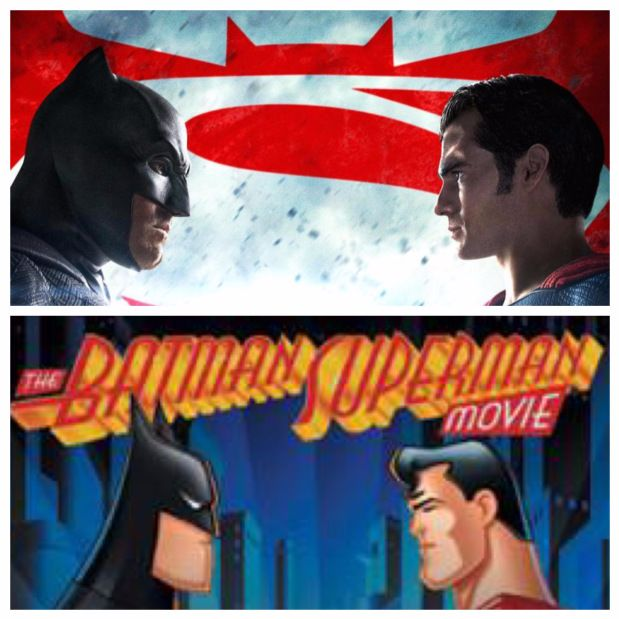 Artwork for Week 12: (Batman v Superman: Dawn of Justice (2016) & The Batman Superman Movie: World's Finest (1997))