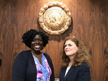Supreme Court Staff Attorneys A. Mireille Fall-Fry and Michelle Ballard