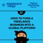 Artwork for #61: How To Turn A Freelance Business Into A Global Platform