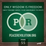 Artwork for Peace Revolution episode 055: Only Wisdom is Freedom / Why Tyranny Needs Your Ignorance to Exist