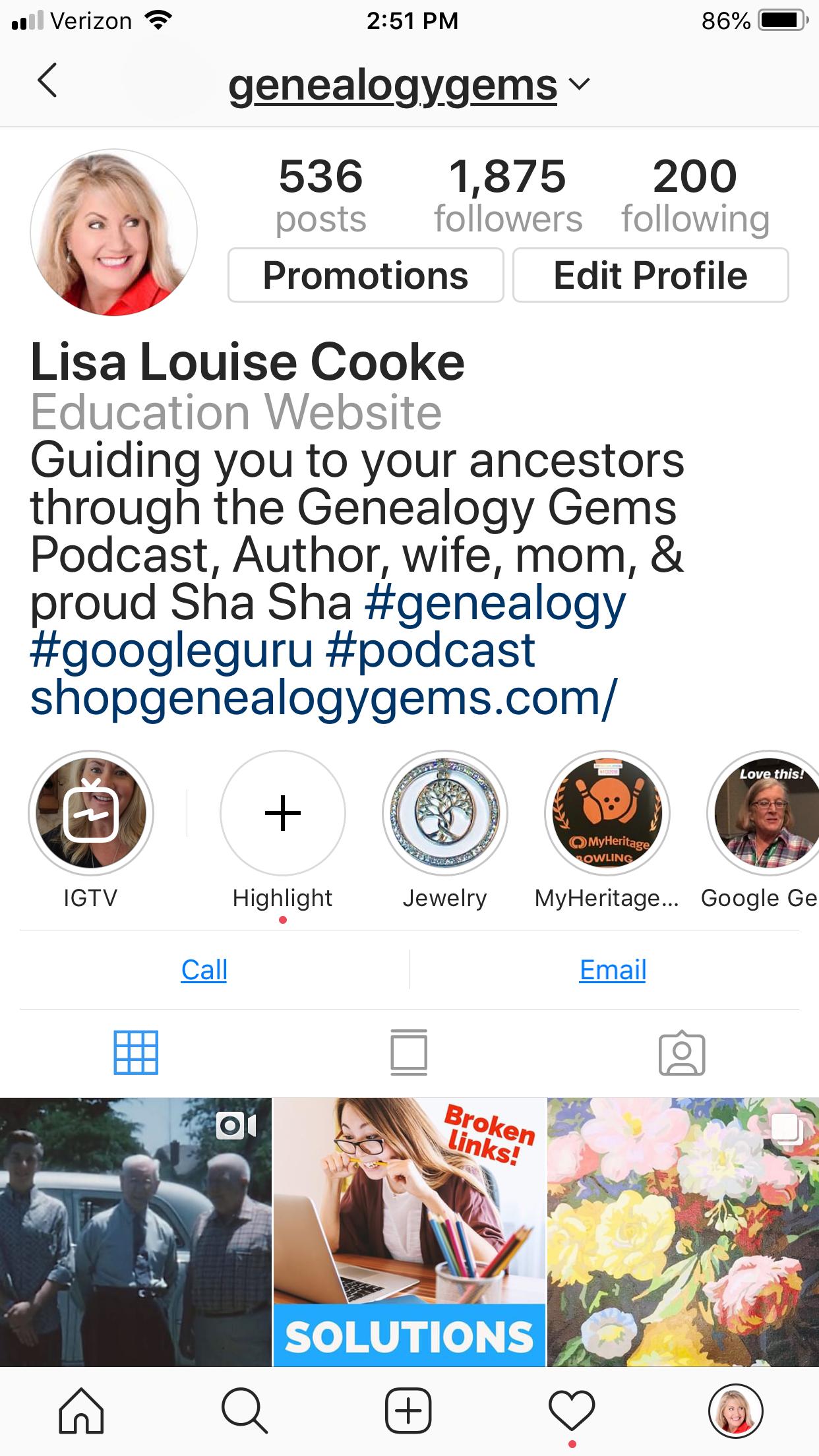 Lisa Louise Cooke on Instagram