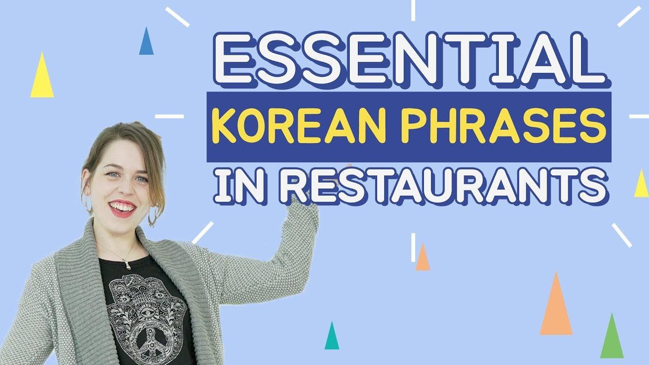 Essential Korean Phrases In Restaurants