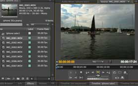Editing video from the iPhone 3GS in Premiere Pro CS4