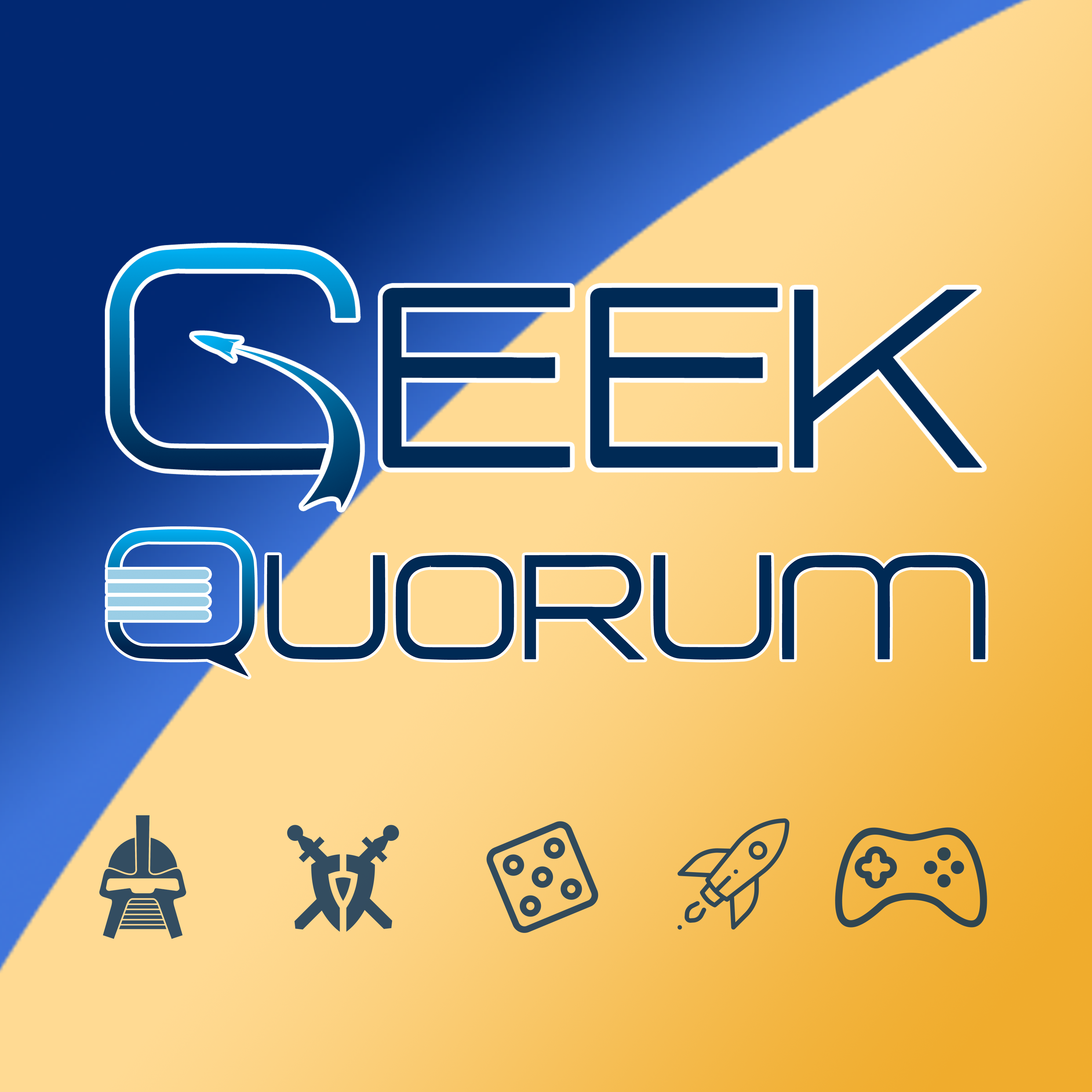 Geek Quorum - a sci-fi and gaming podcast show art