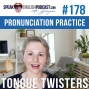 Artwork for #178 English Pronunciation Practice with Tongue Twisters