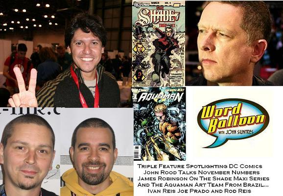 ep 378 DC 52 Talk With John Rood James Robinson and The Aquaman Art Team