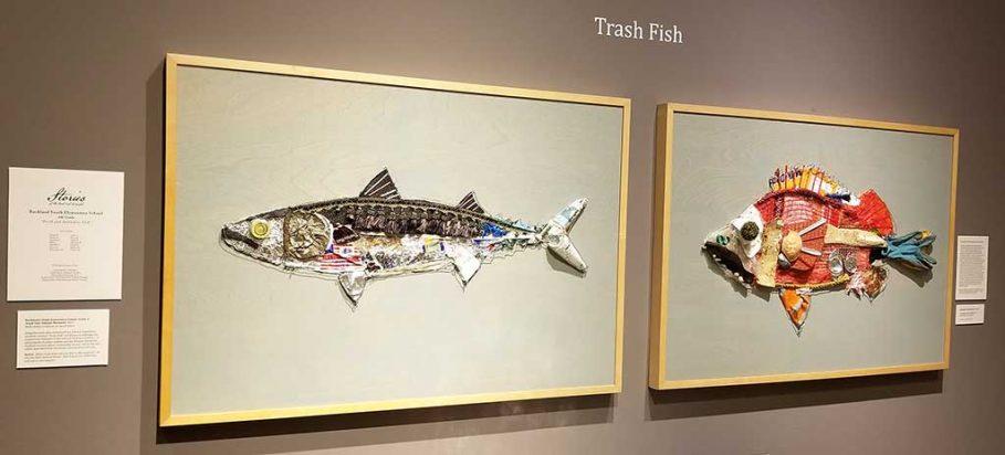 Trash Fish Art Installation at Farnsworth Art Museum