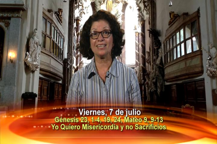 """Artwork for Viernes, 7 de julio de 2017 Tema de hoy:  """"Yo quiero misericordia y no sacrificios"""""""
