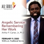 Artwork for 'ANGELIC SERVICE: REMEMBERING HER WORK' - A sermon by Arthur F. Carter, Jr., Ph.D.  (Traditional Service)