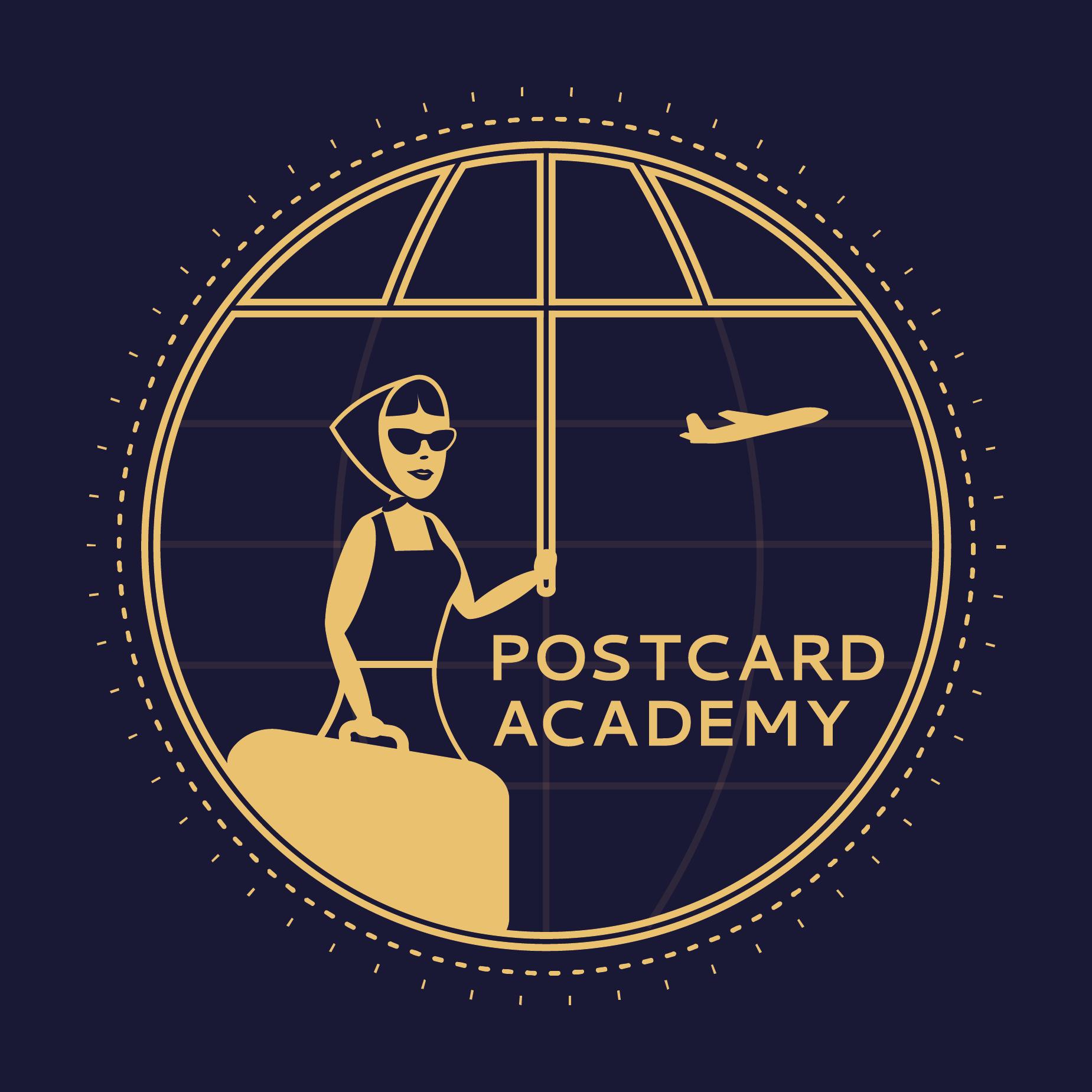 Postcard Academy Travel Podcast show art
