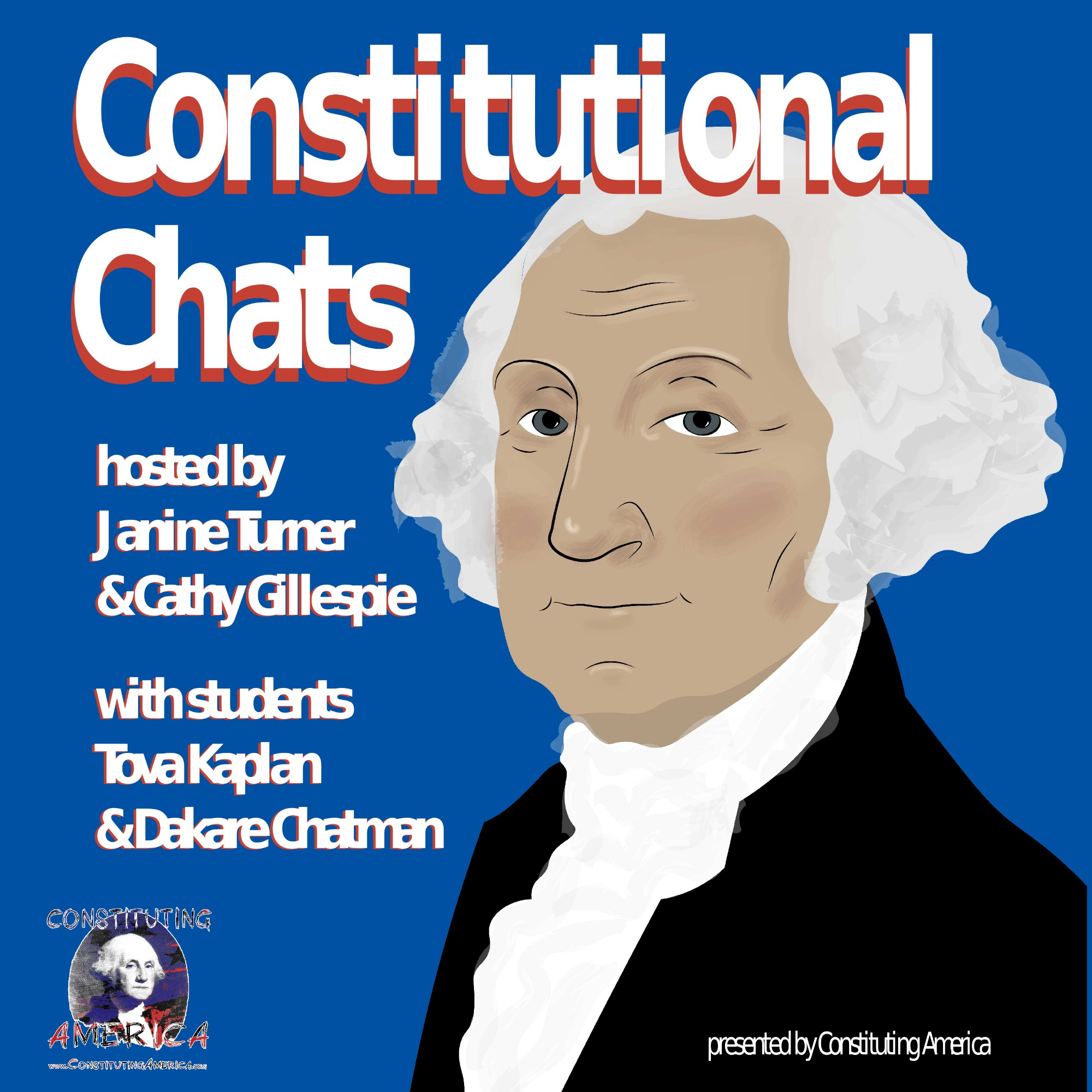 Constitutional Chats hosted by Janine Turner and Cathy Gillespie show art