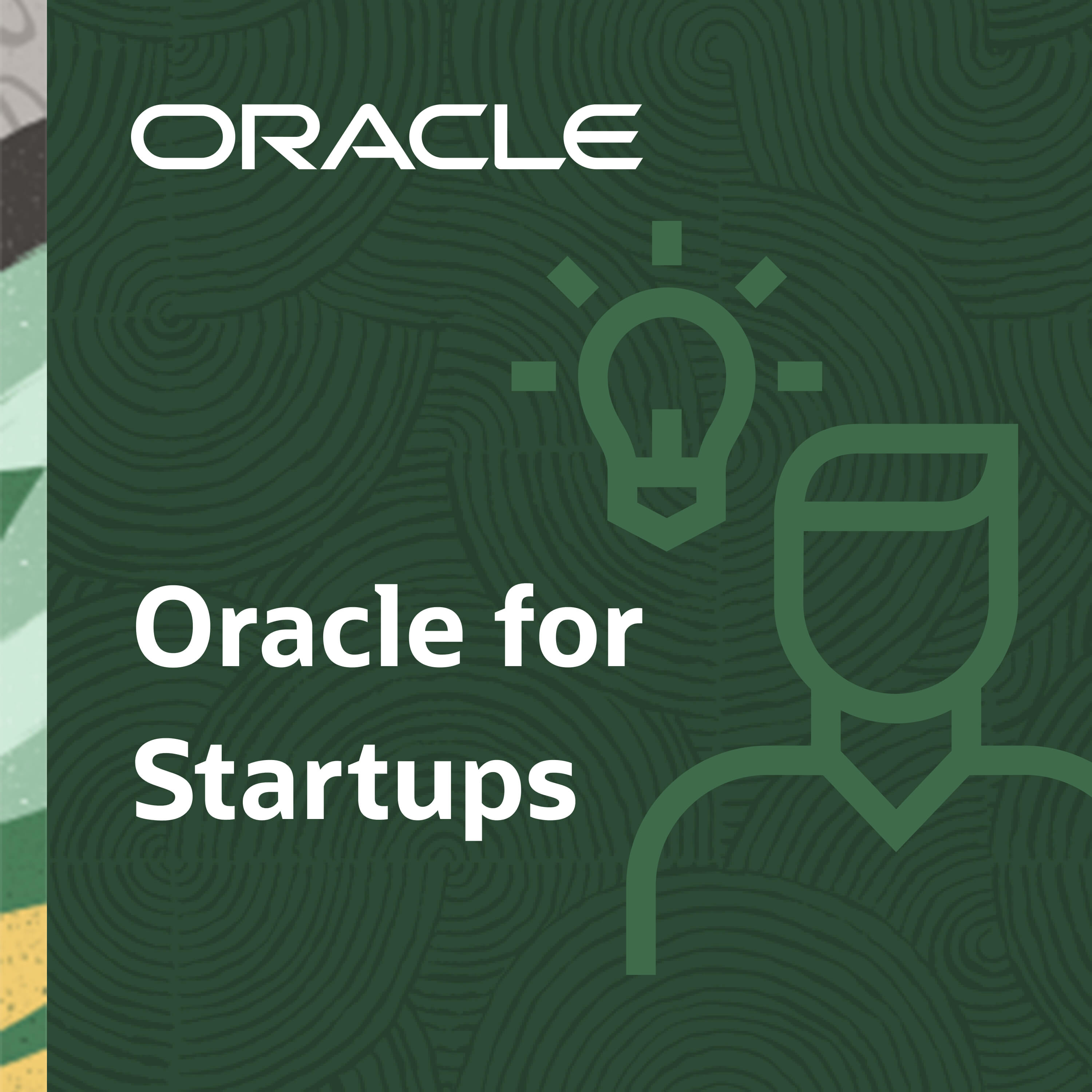 Oracle for Startups show art