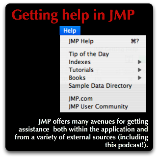 JMP Getting Help