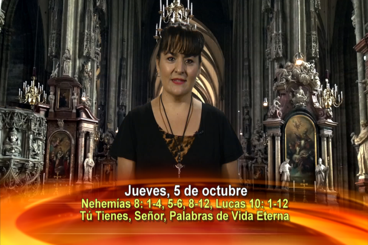 Artwork for Dios te Habla con Leticia Diaz. El tema: Tú tienes, Señor, palabras de vida eterna.