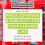 Artwork for SFD030: How to Get Press Coverage & Publicity for Your Fashion Line