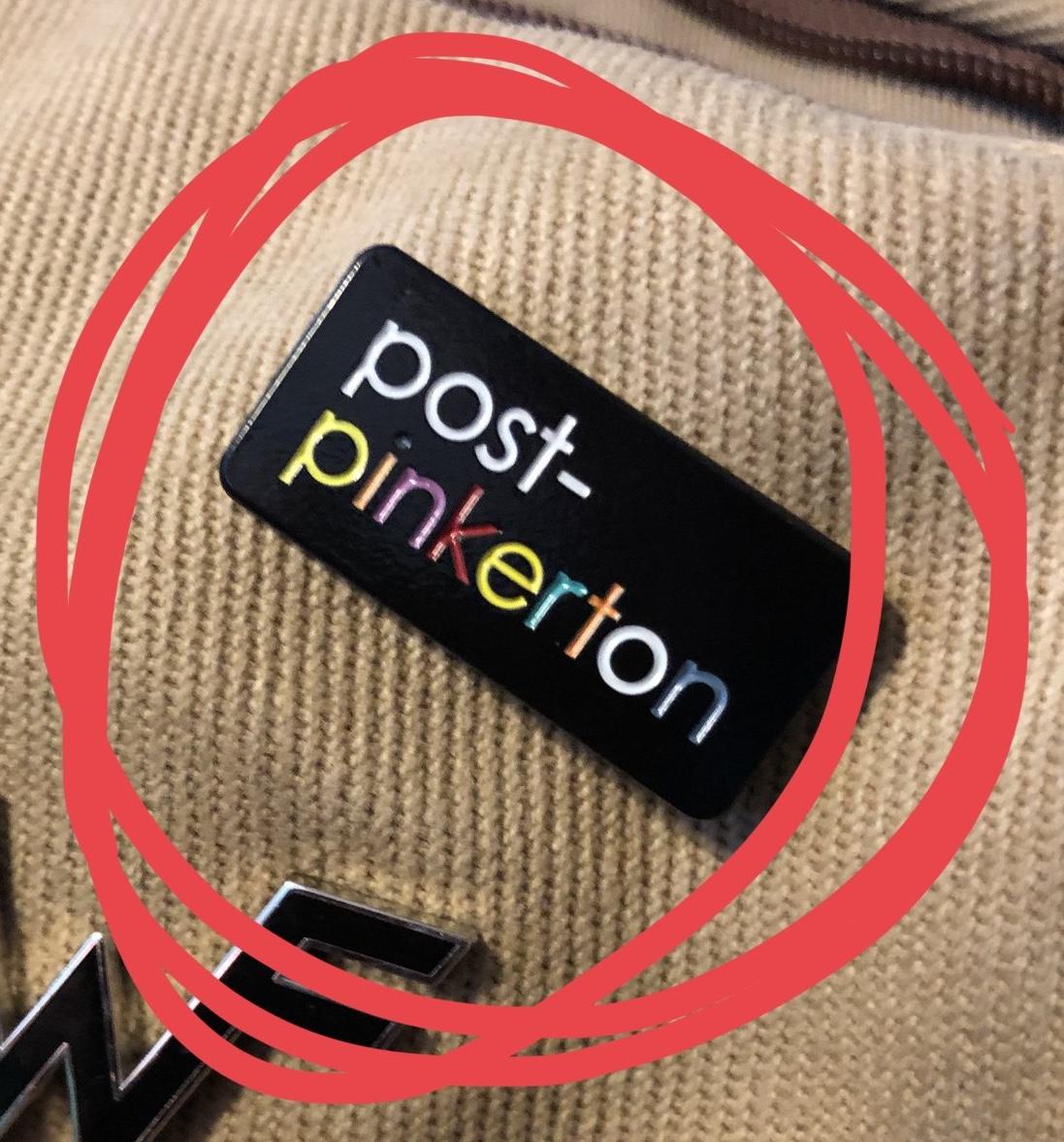 Post-Pinkerton Enamel Pin