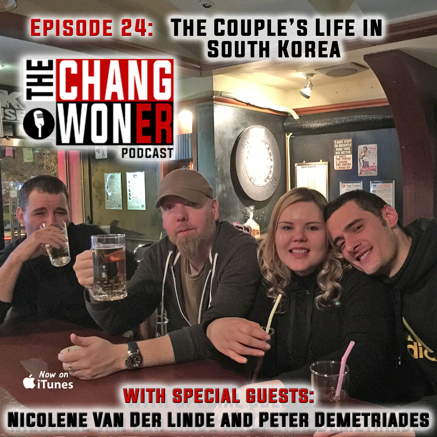 Artwork for Couple's Life in South Korea and Working Together -guests Nicolene Van Der Linde and Peter Demetriades (Ep 24)