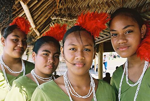 young micronesian women