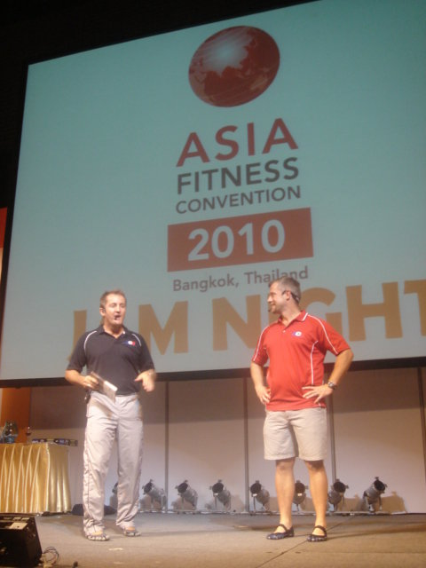 Fabio and I speaking at an event in Thailand