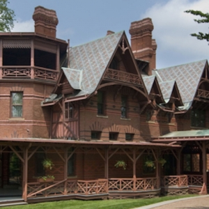 8. A SERVANT SHOWS US THE TWAIN HOME  & 10/40  AT FLORENCE GRISWOLD MUSEUM