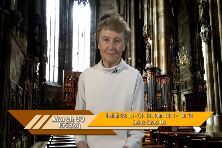 Artwork for iGod Today with Sr. Jeanne Harris, OP;  Today's Topic:  Jesus saves us