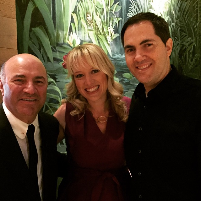 Honeyfund Team Sara and Josh Margulis with Mr Wonderful Kevin O'Leary