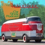 Artwork for GM Futurliners and Japanese car exhibit at the Petersen Automotive museum