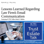 Artwork for Lessons Learned Regarding Law Firm's Email Communication