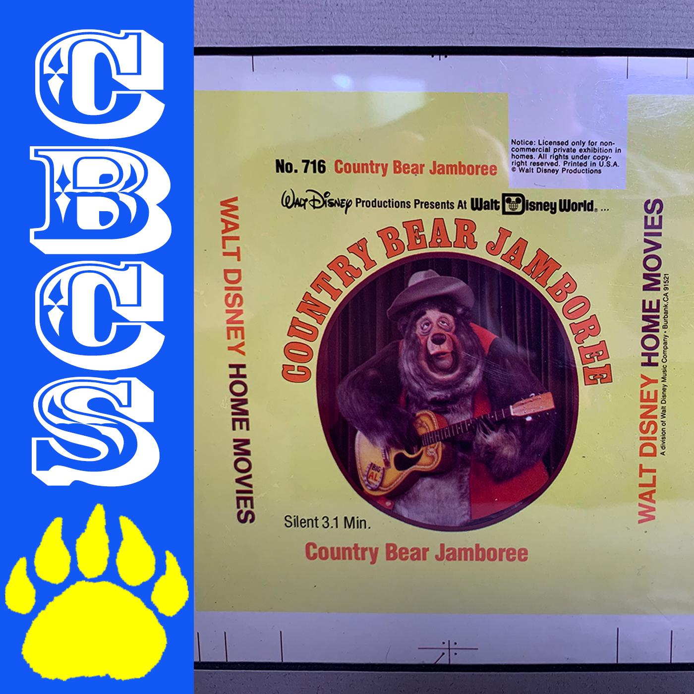 Artwork for Vintage Walt Disney World Film Cover Color Separation - Country Bear Collector Show #211