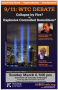 Artwork for 9/11 WTC Debate:  Collapse by fire or explosive controlled demolition?
