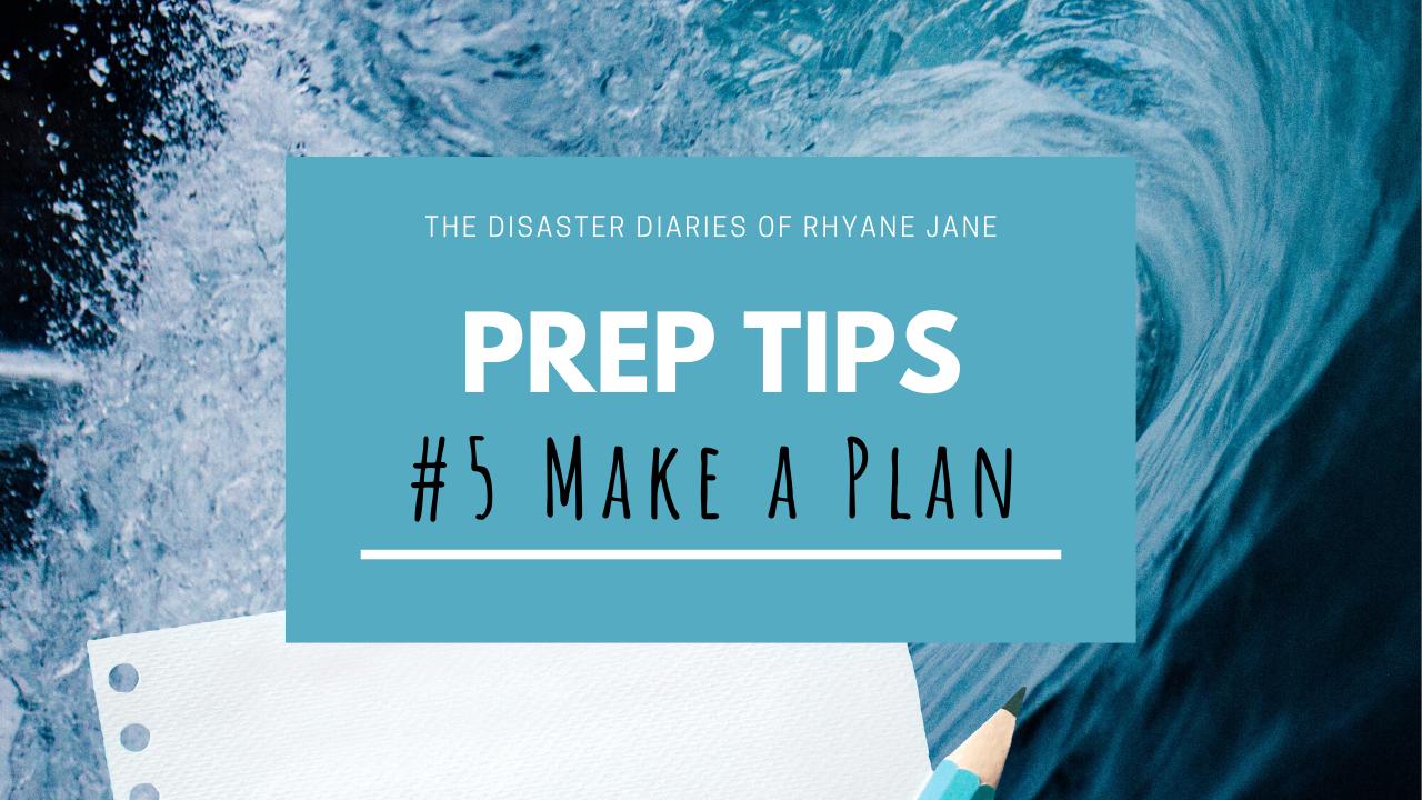 DDRJ - PREP TIPS: Make A Plan