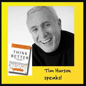 Tim Hurson, author of Think Better, an Innovators Guide to Productive Thinking, talks to the Innovise Guys