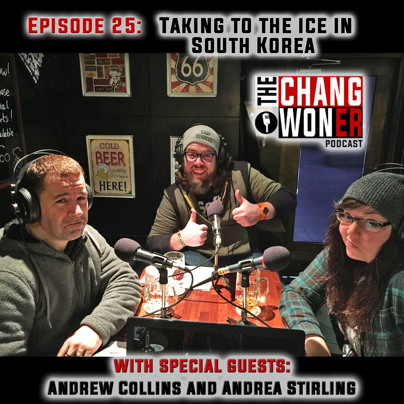Artwork for Ice Rinks Skating, and Ice Hockey in South Korea -guests Andrew Collins and Andrea Stirling (Ep 25)