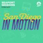 Artwork for San Diego in Motion: Christopher Olsen and Ariana Criste of BikeSD