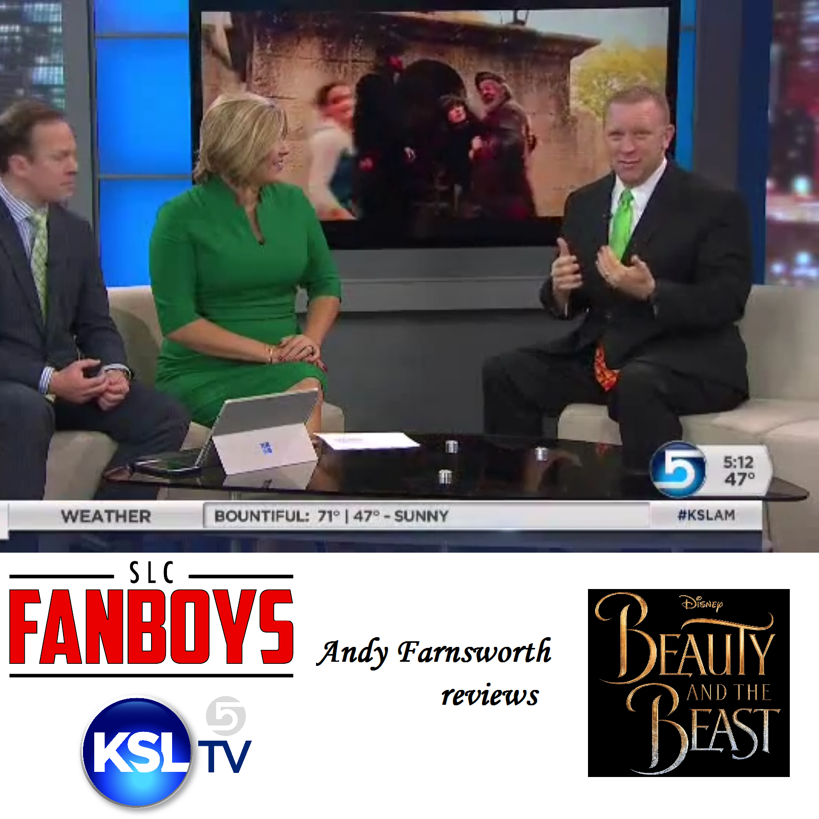 "Artwork for VIDEO: ""Beauty and the Beast"" movie review for KSL 5 TV"