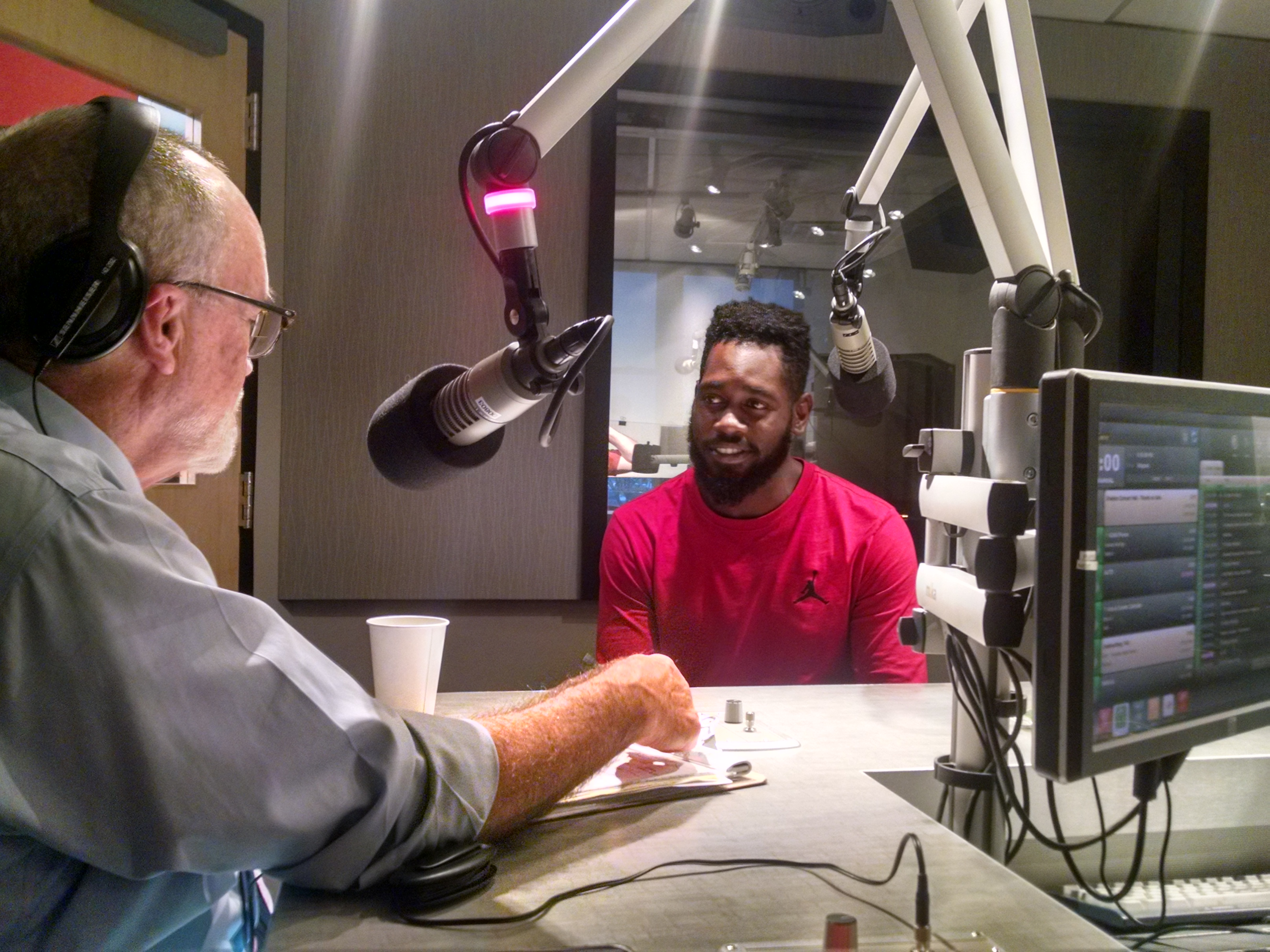 Alderman Bosley with host DJ Wilson