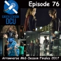 Artwork for The Earth Station DCU Episode 76 – Arrowverse Mid-Season Finales 2017