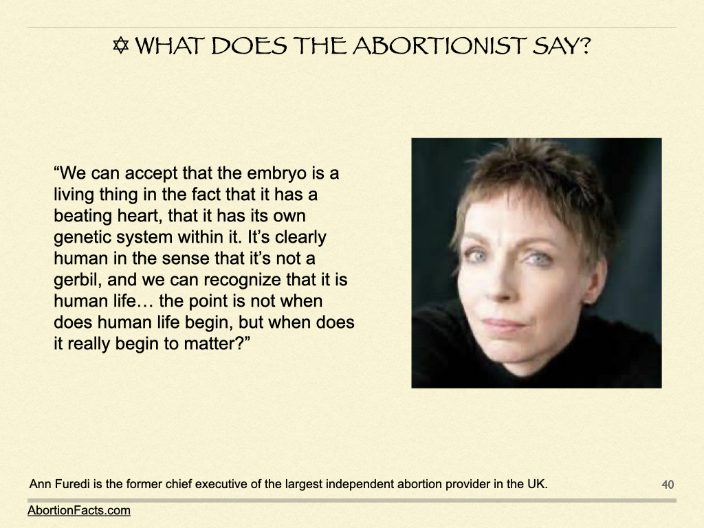 What Does The Abortionist Say?