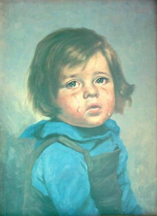 A Crying Boy Painting by Giovanni Bragolin