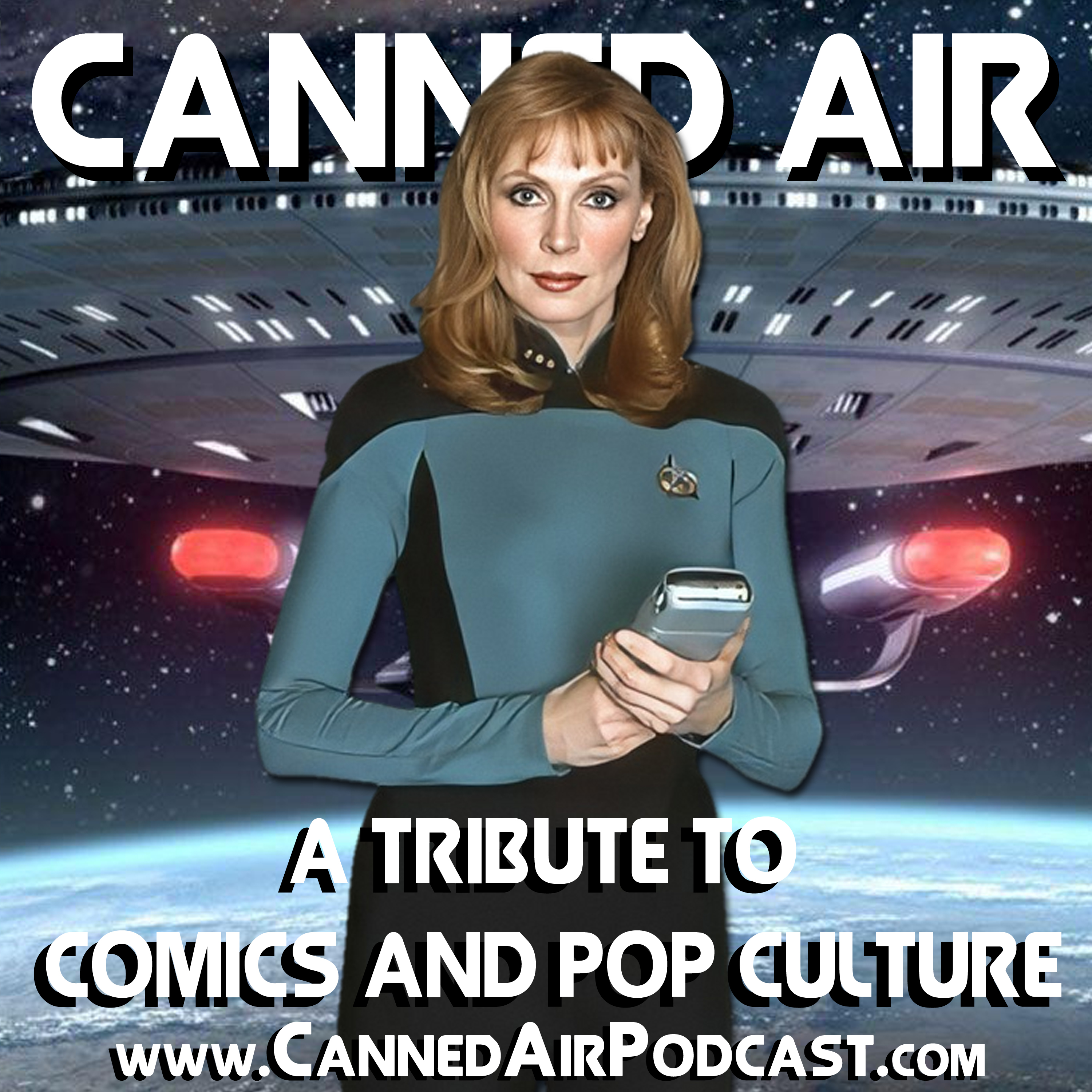 Artwork for Canned Air #363 A Conversation with Gates McFadden (Dr. Beverly Crusher of Star Trek)