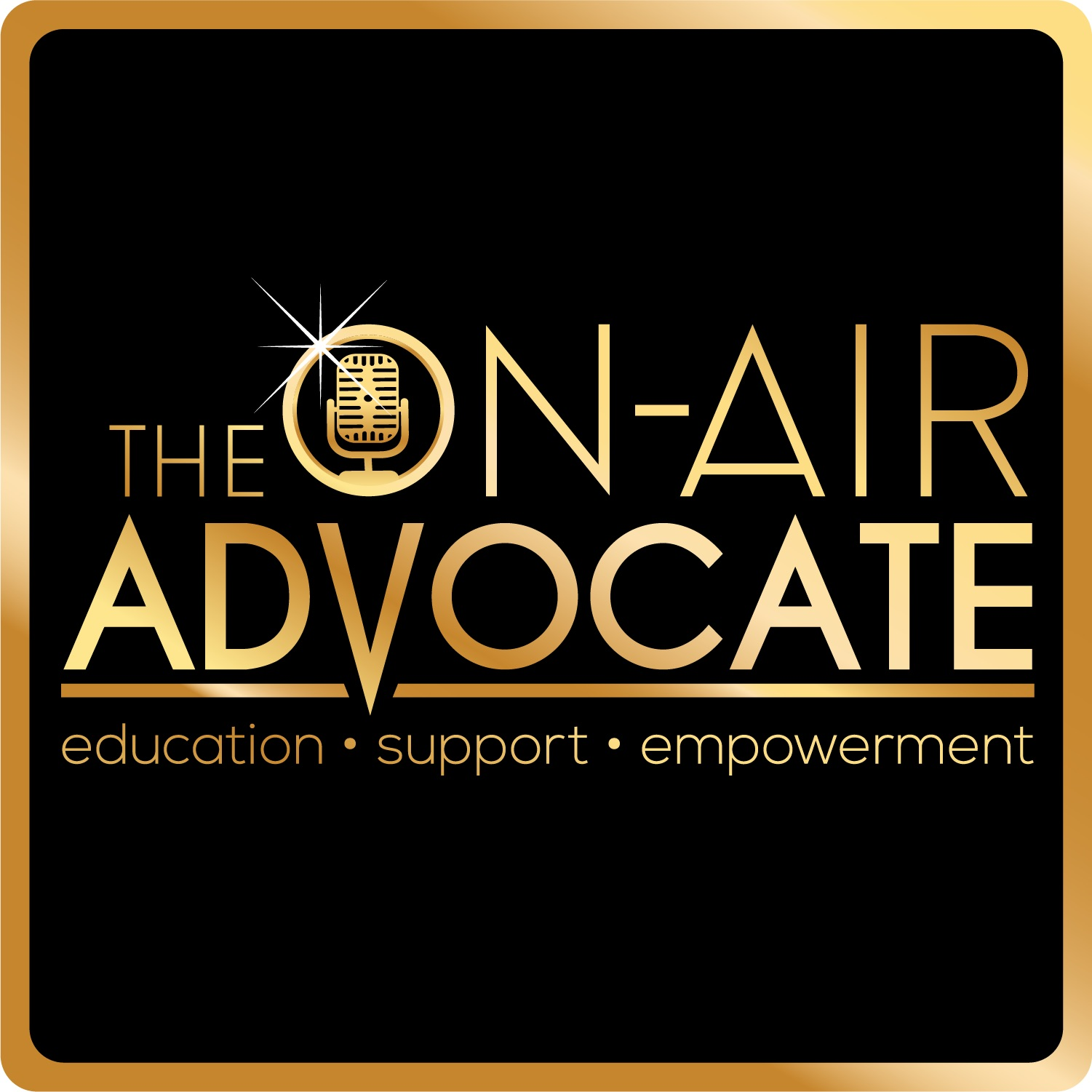 The On-Air Advocate show art