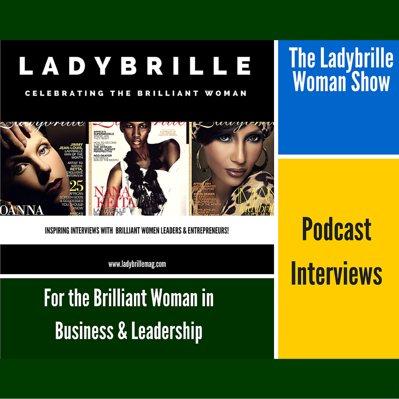 The Ladybrille Woman Show logo