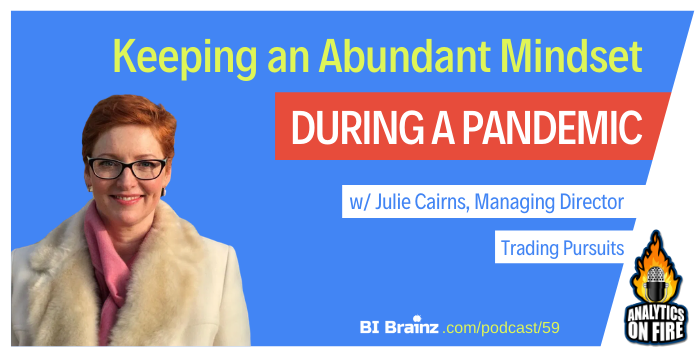 Julie Cairns Analytics on Fire Podcast Artwork