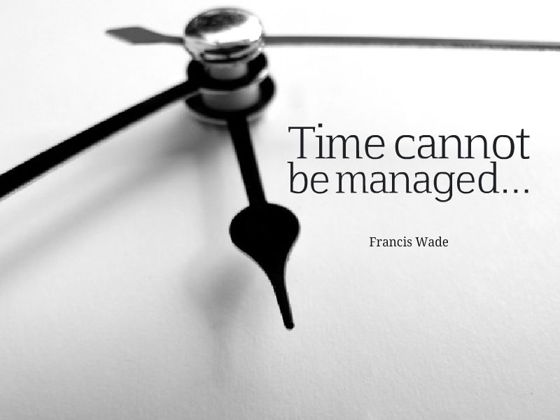 """Perfect Time-Based Productivity"" with Francis Wade"