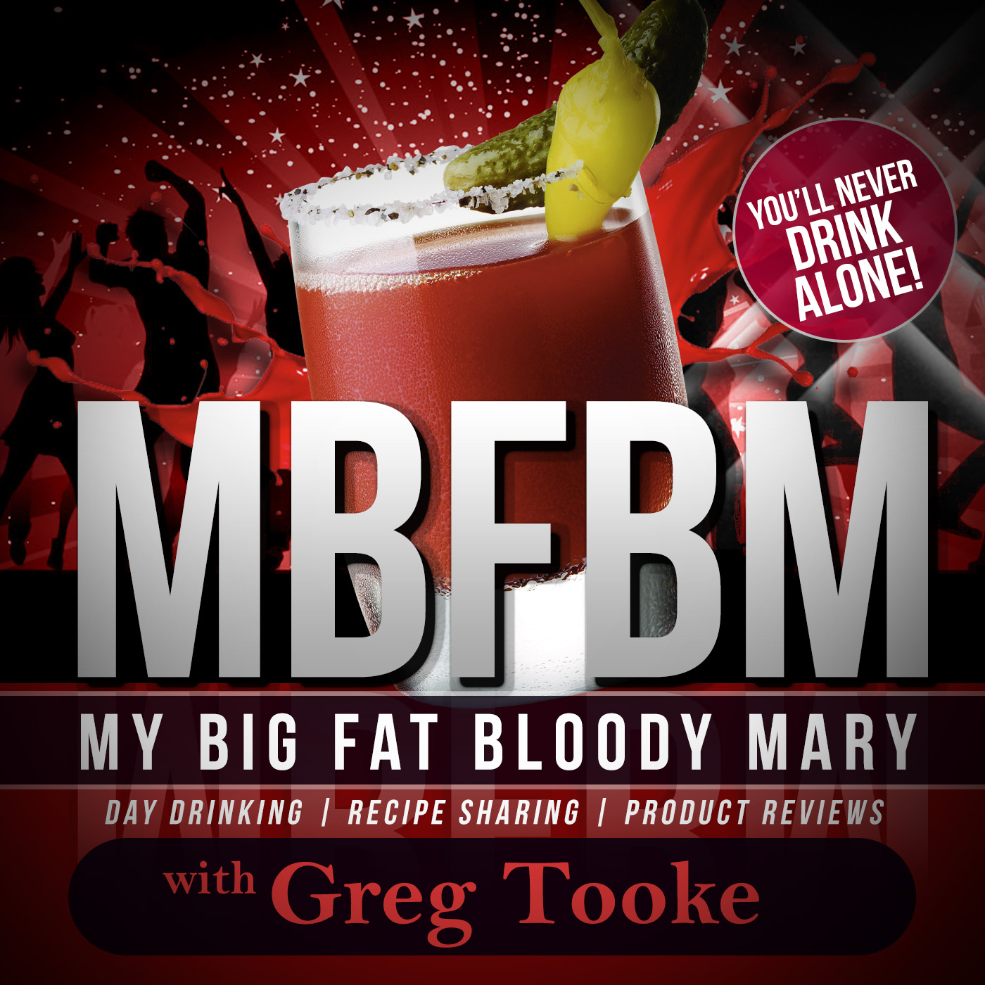 my big fat bloody mary podcast show art