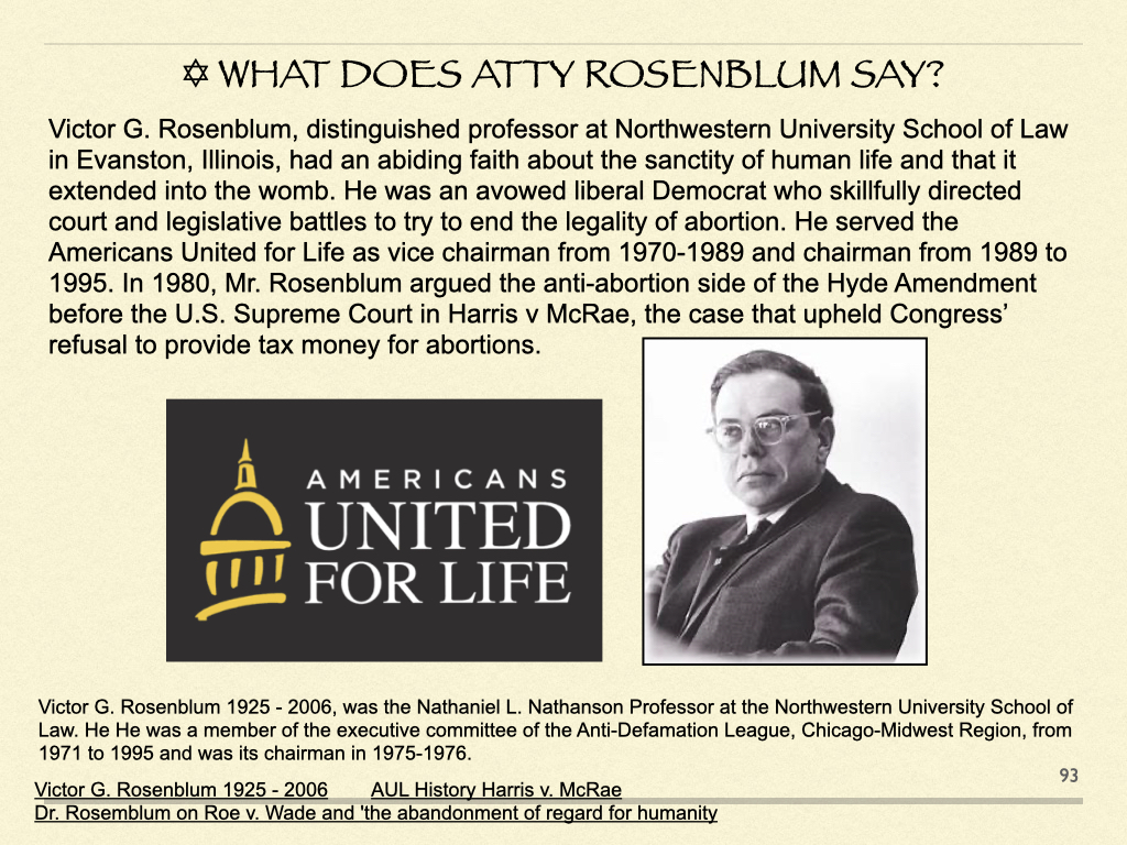 What Does Atty Rosenblum Say?